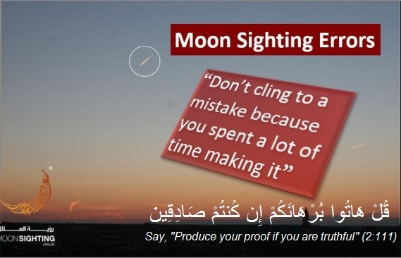 Moon Sighting Errors