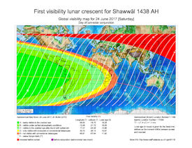 Visibility Map for Shawwal 1438 AH (a)