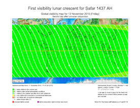 Visibility Map for Safar 1437 AH (b)
