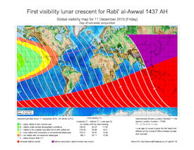 Visibility Map for Rabi-ul Awwal 1437 AH (a)