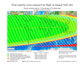 Visibility Map for Rabi-ul Awwal 1437 AH (b)