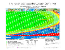 Visibility Map for Jumada Al-Ula 1437 AH (b)