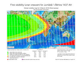 Visibility Map for Jumada Al-Akhira 1437 AH (a)