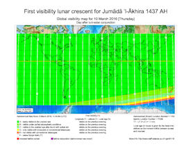 Visibility Map for Jumada-al Ukhra 1437 AH (b)