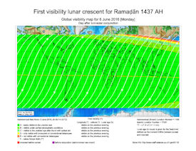 Visibility Map for Ramadan 1437 AH (b)