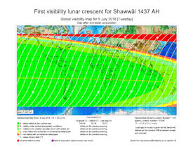 Visibility Map for Shawwal 1437 AH (b)