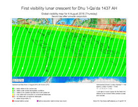 Visibility Map for Dhul Qaidah 1437 AH (c)