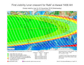Visibility Map for Rabi-ul Awwal 1438 AH (b)