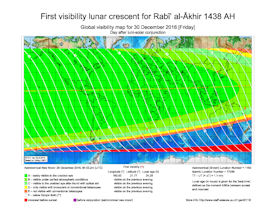 Visibility Map for Rabi-ul Thani 1438 AH (b)