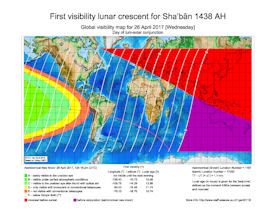 Visibility Map for Shaban 1438 AH (b)