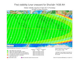 Visibility Map for Shaban 1438 AH (c)