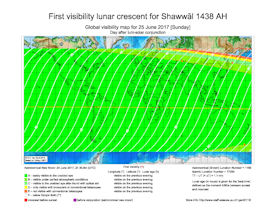 Visibility Map for Shawwal 1438 AH (b)