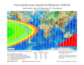 Visibility Map for Muharram 1439 AH (a)