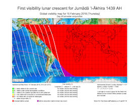 Visibility Map for Jumada Al-Akhira 1439 AH (a)