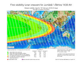 Visibility Map for Jumada Al-Akhira 1439 AH (b)