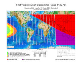 Visibility Map for Rajab 1439 AH (a)