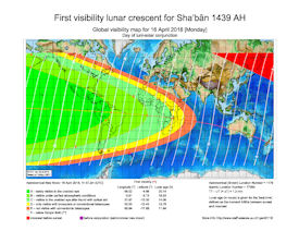 Visibility Map for Shaban 1439 AH (b)