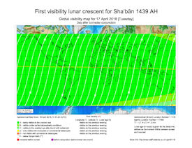 Visibility Map for Shaban 1439 AH (c)
