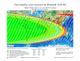 Visibility Map for Shawwal 1439 AH (b)