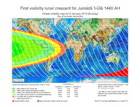 Visibility Map for Jumada Al-Ula 1440 AH (a)