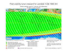 Visibility Map for Jumada Al-Ula 1440 AH (b)