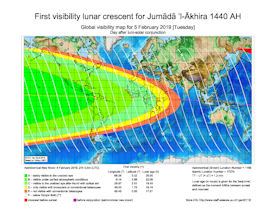 Visibility Map for Jumada Al-Akhira 1440 AH (b)