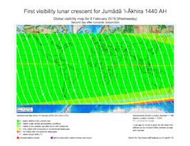 Visibility Map for Jumada Al-Akhira 1440 AH (c)
