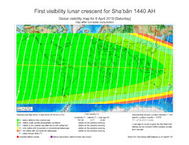 Visibility Map for Shaban 1440 AH (c)