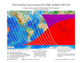 Visibility Map for Rabi-ul Thani 1441 AH (a)