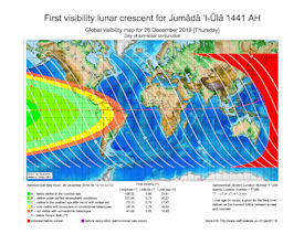 Visibility Map for Jumada Al-Ula 1441 AH (a)