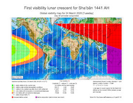 Visibility Map for Shaban 1441 AH (a)