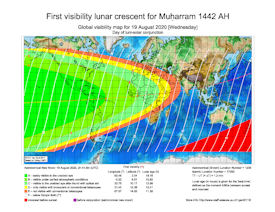 Visibility Map for Muharram 1442 AH (a)