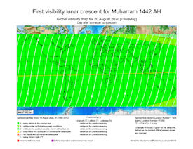 Visibility Map for Muharram 1442 AH (b)