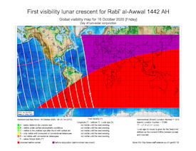 Visibility Map for Rabi-ul Awwal 1442 AH (a)