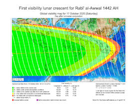 Visibility Map for Rabi-ul Awwal 1442 AH (b)