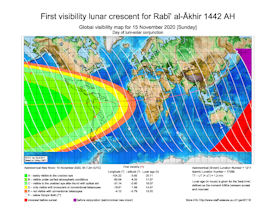 Visibility Map for Rabi-ul Akhir 1442 AH (a)