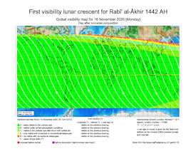 Visibility Map for Rabi-ul Akhir 1442 AH (b)