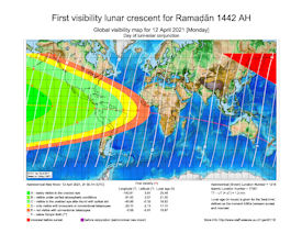 Visibility Map for Ramadan 1442 AH (a)