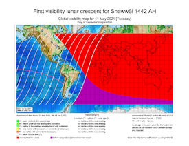 Visibility Map for Shawwal 1442 AH (a)