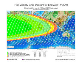 Visibility Map for Shawwal 1442 AH (b)