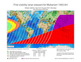 Visibility Map for Muharram 1443 AH (a)