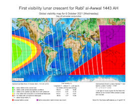 Visibility Map for Rabi-ul Awwal 1443 AH (a)