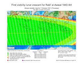 Visibility Map for Rabi-ul Awwal 1443 AH (b)