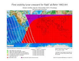 Visibility Map for Rabi-ul Akhir 1443 AH (a)
