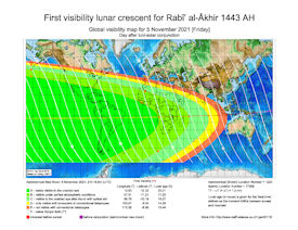 Visibility Map for Rabi-ul Akhir 1443 AH (b)