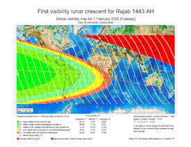 Visibility Map for Rajab 1443 AH (a)