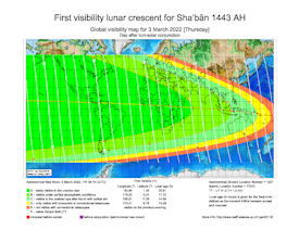Visibility Map for Shaban 1443 AH (b)