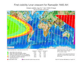 Visibility Map for Ramadan 1443 AH (a)