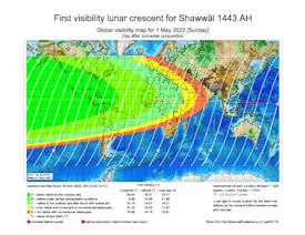 Visibility Map for Shawwal 1443 AH (b)